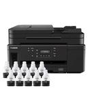 【搭GI70原廠墨水10黑】Canon PIXMA GM4070 商用黑白連供複合機