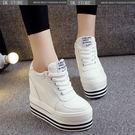 內增高高幫運動厚底鞋 2色