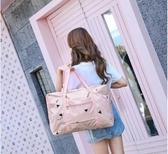 旅行包包-待產行李包短途簡約可折疊旅行衣服收納包大容量防水行禮包手提袋 YJT