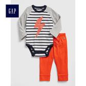 Gap男嬰幼童 舒適休閒睡衣套裝 496567-墨青