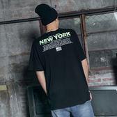 DADA SUPREME 紐約螢光印花T-男-黑