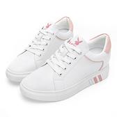 PLAYBOY 微尖楦頭內增高休閒鞋-白粉(Y5825)