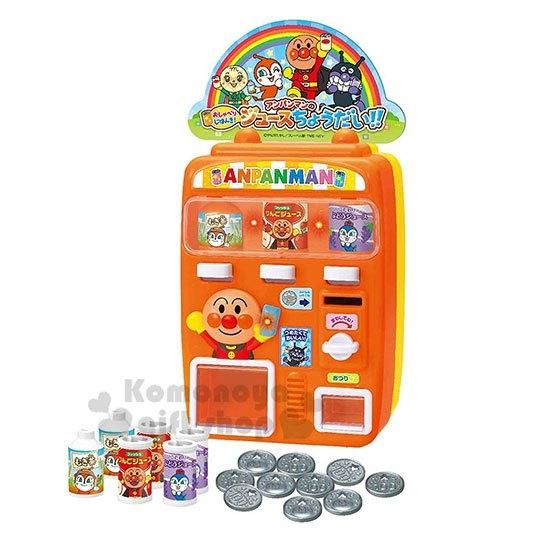 〔小禮堂〕麵包超人 飲料販賣機玩具組《橘盒裝.舉手》益智玩具.兒童玩具 4975201-18145