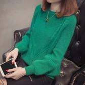 針織打底衫 春秋新款2020韓版圓領套頭針織打底衫上衣寬鬆純色顯瘦毛衣女-米蘭街頭