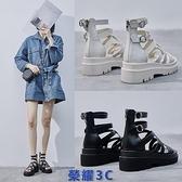 厚底涼鞋 平底時裝涼鞋女超火2021夏季新款小眾超火松糕厚底仙女法式羅馬鞋 【榮耀】