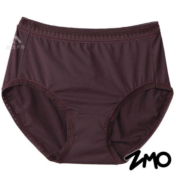 【 ZMO 】淑女高腰內褲『咖啡紫』US176 女生.運動內褲.排汗內褲.透氣.彈性.親膚.柔軟.台灣製造