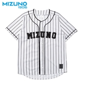 MIZUNO SPORTS STYLE 男裝 短袖 棒球衣 復古 條紋 1906 白【運動世界】D2TA950101