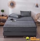 單件雙人床包純棉水洗夾棉床笠床套加厚床罩床墊保護套防滑【happybee】