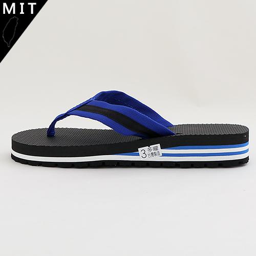 男款 黑藍織帶 人字拖鞋 海灘拖 夾腳拖鞋 MIT製造 59鞋廊