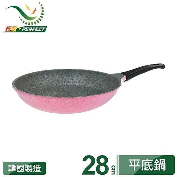 【南紡購物中心】韓國晶鑽不沾平底鍋28cm粉紅