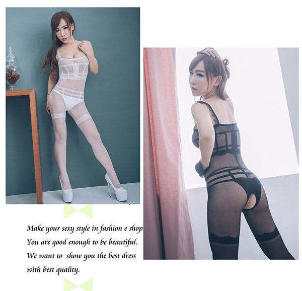 性感貓裝趣睡衣禮物 開檔貓裝網衣~白黑色台灣製貓裝情趣內衣褲*流行E線B8047
