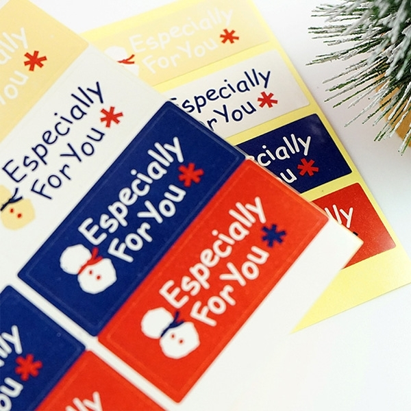 【BlueCat】聖誕節 長條封口 貼紙 Especially for you (8枚) 包裝貼紙 封口貼
