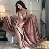 毛毯夏天珊瑚床單雙人辦公室空調午睡休沙發小蓋毯子薄款夏季被子 Gg1886『東京衣社』