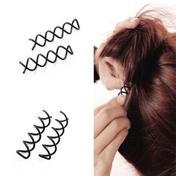 美髮用品 韓版盤髮器螺旋夾 約5x1.2cm     【FMD082】-收納女王