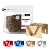 CoFeel 凱飛鮮烘豆坦尚尼亞吉利馬札羅中深烘焙咖啡豆半磅+收納濾泡耳掛式兩用咖啡架(SO0062S)