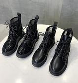 短靴 馬丁靴女夏季薄款透氣英倫風潮ins酷黑色涼靴夏天百搭網紗短靴女 聖誕節鉅惠