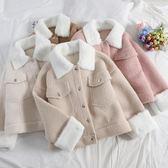 女夾克 皮毛一體羊羔毛外套女短款冬季麂皮絨毛絨絨夾克Y-0211
