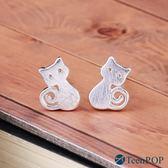 925純銀耳環 ATeenPOP 抗過敏耳環 可愛貓星人 貓