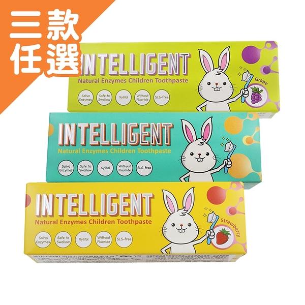 INTELLIGENT 因特力淨 兒童牙膏 40g 原味/草莓優格/葡萄【BG Shop】3款可選