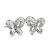 耳環 925純銀鑲鑽-蝴蝶造型生日情人節禮物女飾品2色73dm14【時尚巴黎】