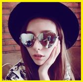 愛心形太陽鏡女桃心太陽眼鏡心型墨鏡 ☸mousika