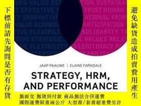 二手書博民逛書店罕見Strategy, HRM, and Performance
