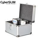 CyberSLIM 鋁殼硬碟保險箱 防震 防水 可放3.5吋10個 福利品(鎖壞了)
