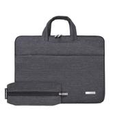 電腦包-帆布商務休閒可伸縮提手男女手提包2色73vy16【巴黎精品】