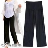 現+預 百搭無摺線素面孕婦(腰圍可調)寬褲 黑【CSH061120】孕味十足。孕婦裝