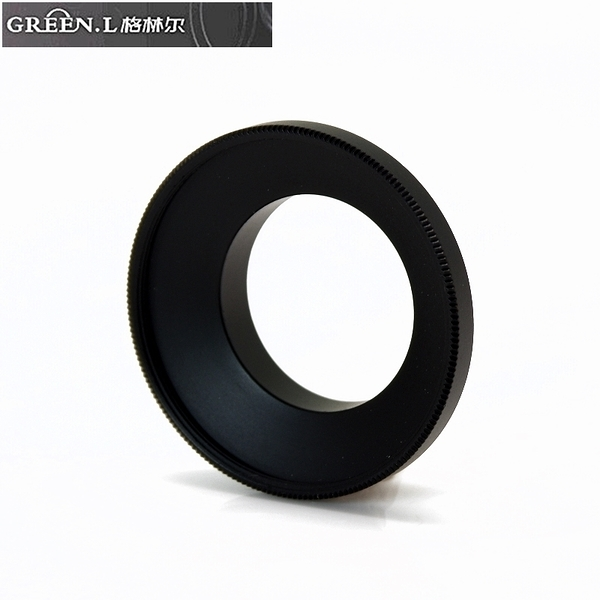 又敗家@Green.L GoPro副廠運動錄影機轉37mm濾鏡轉接環AR-4鏡頭轉接環Hero英雄+ 3 3+ 4黑LCD銀Black Silver