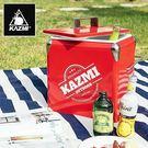 丹大戶外【KAZMI】酷樂彩色小冰箱13L(紅色) 冰桶置物箱/保鮮桶/保冰/飲料桶  K6T3A013
