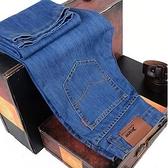 牛仔褲夏季薄款男士牛仔褲男直筒寬鬆休閒長褲大碼商務男褲中青年工作褲 迷你屋