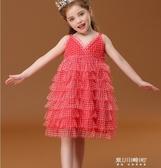 女童洋裝-IK童裝女童洋裝新款夏裝寶寶蓬蓬紗兒童裙子超洋氣公主裙潮 現貨快出