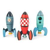 【美國Tender Leaf Toys】飛行火箭積木建構組(運輸系列)