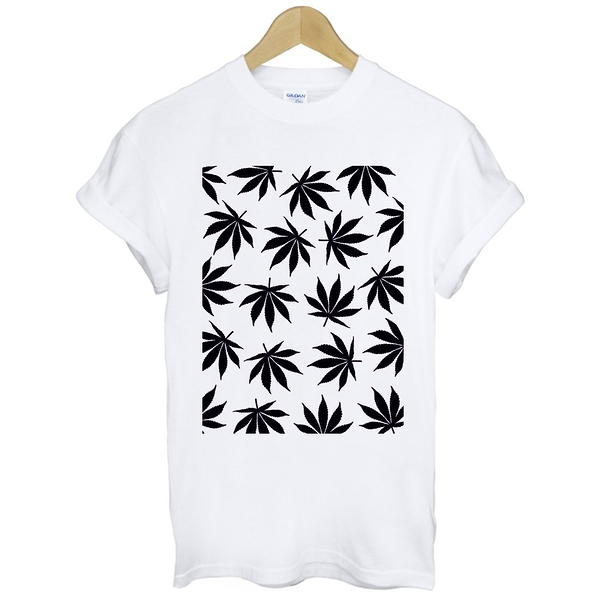 Cannabis Leaf-black短袖T恤-2色 大麻huf obey dope風格滑板潮t