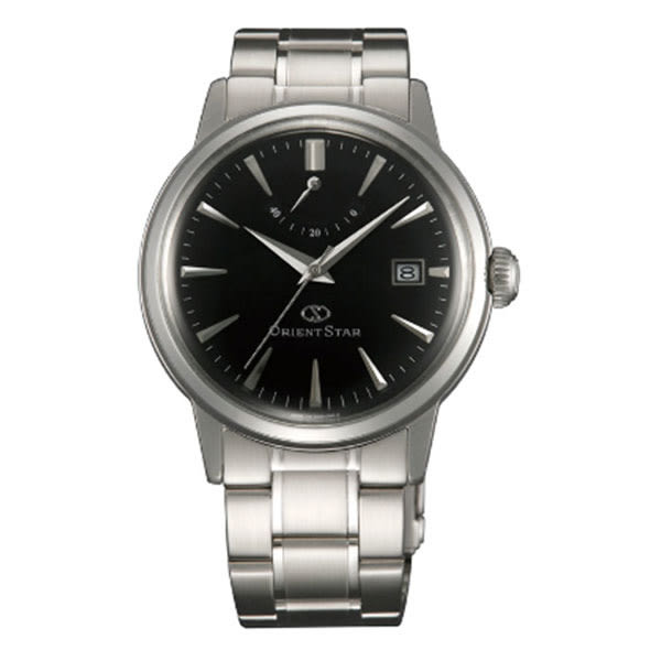 東方之星ORIENT STAR 復古蛋形玻璃動力儲存盤鋼帶機械錶x39mm黑・公司貨・SEL05002B