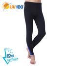 UV100 防曬 抗UV-涼感彈力跳色拼接長褲-男