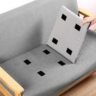 [拉拉百貨]魔鬼氈固定片 沙發坐墊 床單 固定貼 5片裝無痕雙面背膠 地毯 桌布