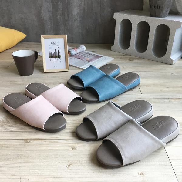 台灣製造-極致風格-厚跟紓壓皮質室內拖鞋-多款任選-4雙任選-$169/雙