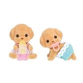 森林家族 人偶 玩具貴賓狗雙胞胎