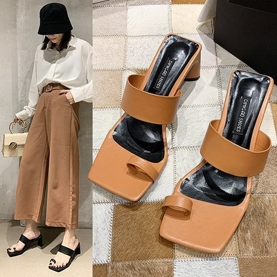 任選2雙788氣質優雅淑女風性感時尚粗跟高跟拖鞋涼鞋【02S13671】