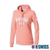 K-SWISS KS 66 Hoodie連帽上衣-女-橘