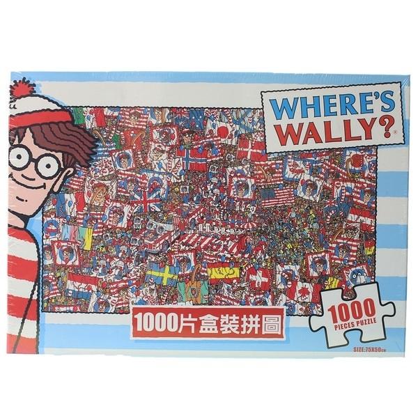 Where's Wally?威利在哪裡?拼圖 1000片拼圖 WW001/一盒入{促620} MIT製 75cm x 50cm 正版授權拼圖
