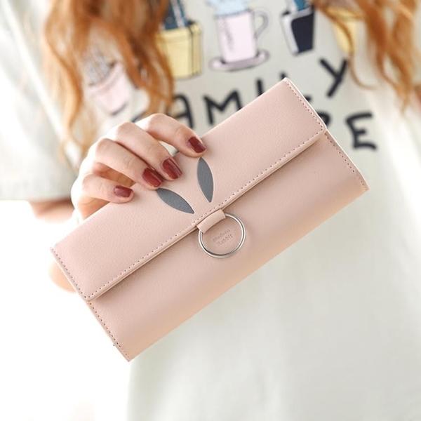 學生韓版可愛長款錢包女小清新三折簡約百搭女士錢夾 新春禮物