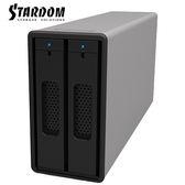 STARDOM ST2-B31 (銀色) 3.5吋硬碟/ 2.5吋固態硬碟 USB3.1 Gen2 (Type-C) 2bay 磁碟陣列硬碟外接盒