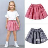 短裙女童格子裙夏季棉質正韓洋氣兒童短裙百搭厚款中大童半身裙小裙子