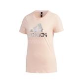 adidas 短袖T恤 GFX T Foil BOS 粉橘 銀 女款 短T 運動休閒 【ACS】 FM9293