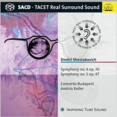 【停看聽音響唱片】【SACD】蕭士塔高維契:第五、九號交響曲 安德拉斯凱勒/布達佩斯協奏曲樂團