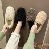 豆豆鞋女韓版加絨棉鞋女鞋秋冬季外穿毛毛鞋【聚可愛】