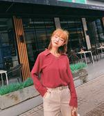 SHINE KOREA  新款時尚長袖百搭雪紡衫